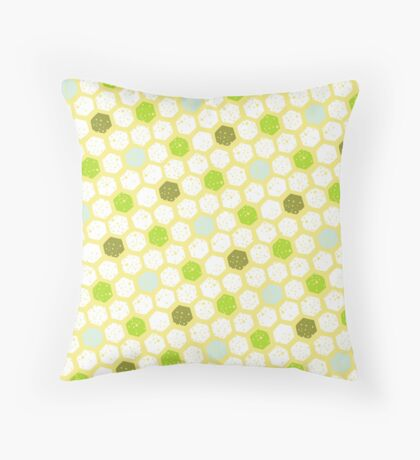 Spring Honeycomb Pattern Throw Pillow