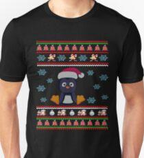 Santa Claus Penguin Christmas Dabbing Through the Snow T-Shirt
