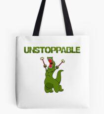 Unstopable T-rex Tote Bag