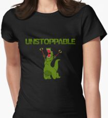 Unstopable T-rex Women's Fitted T-Shirt