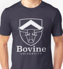 The Simpsons - Bovine University | White Unisex T-Shirt