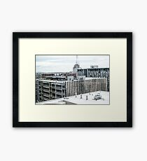 Downtown Cityscape Framed Print
