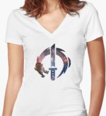 Genji Logo - Galaxy Women's Fitted V-Neck T-Shirt