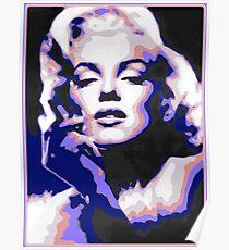 Marilyn Monroe Psychedelic Pop Art Portrait Poster