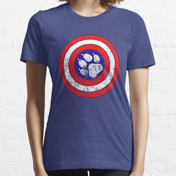 Captain Pupmerica (Distressed)  Essential T-Shirt