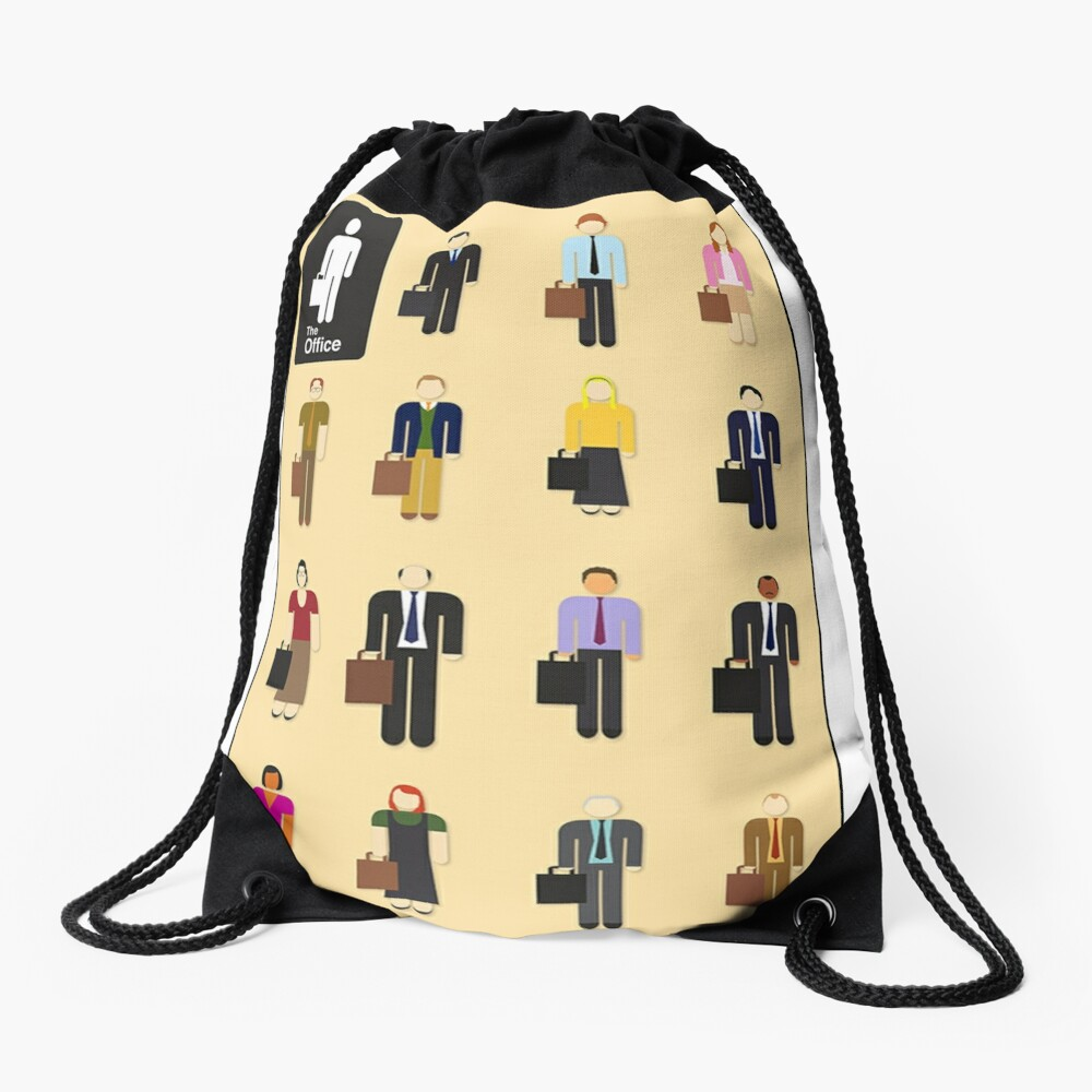 The Office Characters Drawstring Bag