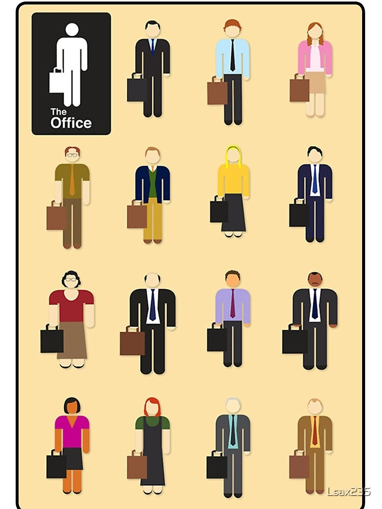 The Office Characters by Lsax235
