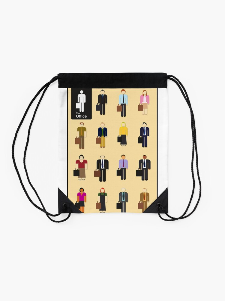 Alternate view of The Office Characters Drawstring Bag