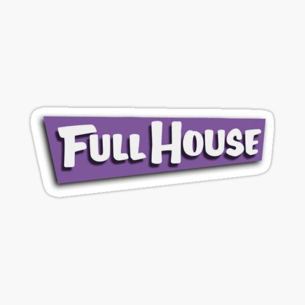 Full House Logo Pegatina