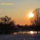 Merry Christmas - Sunset 01 by Peter Barrett
