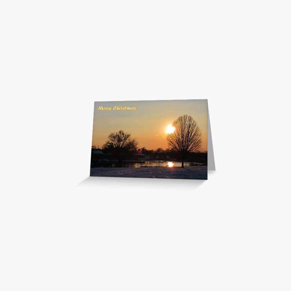 Merry Christmas - Sunset 01 Greeting Card
