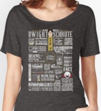 The Wise Words of Dwight Schrute (Dark Tee) Women's Relaxed Fit T-Shirt