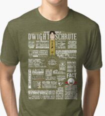 The Wise Words of Dwight Schrute (Dark Tee) Tri-blend T-Shirt