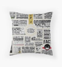 The Wise Words of Dwight Schrute (Dark Tee) Throw Pillow