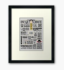 The Wise Words of Dwight Schrute (Dark Tee) Framed Print