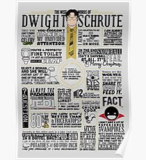 The Wise Words of Dwight Schrute (Dark Tee) Poster