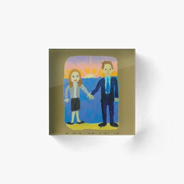 Jim and Pam's Wedding Gift Acrylic Block