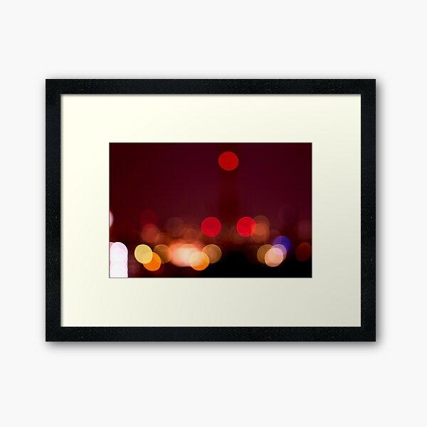 Abstract Bokeh Lights I Framed Art Print
