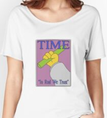 In Rod We Trust, Vector Recreation, Simpsons Time Cover Women's Relaxed Fit T-Shirt