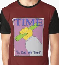 In Rod We Trust, Vector Recreation, Simpsons Time Cover Graphic T-Shirt