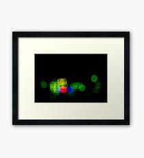 Abstract Bokeh Lights III Framed Print