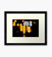 Abstract Bokeh Lights IV Framed Print