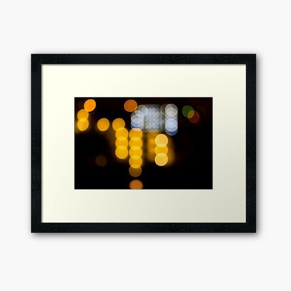 Abstract Bokeh Lights IV Framed Art Print