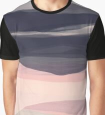 Hills and dales abstract landscape Graphic T-Shirt