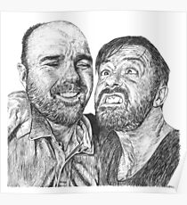 Karl Pilkington & Ricky Gervais - the world need more of em!! Poster