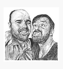 Karl Pilkington & Ricky Gervais - the world need more of em!! Photographic Print