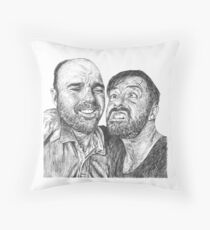 Karl Pilkington & Ricky Gervais - the world need more of em!! Throw Pillow