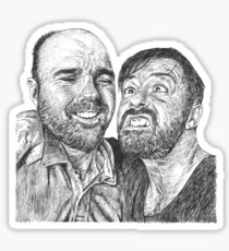 Karl Pilkington & Ricky Gervais - the world need more of em!! Sticker
