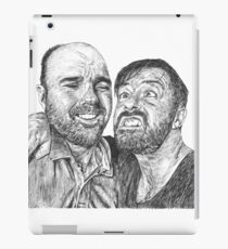 Karl Pilkington & Ricky Gervais - the world need more of em!! iPad Case/Skin