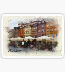 Warsaw Old town Sticker
