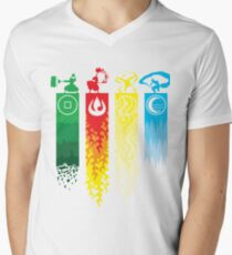 Avatar- Four Elements Men's V-Neck T-Shirt