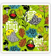 Autumn birds. Sticker