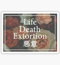 Floral L/D/E Sticker