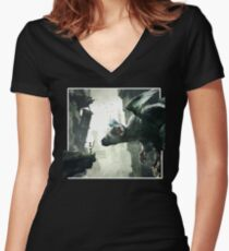 The Last Guardian V.2 Women's Fitted V-Neck T-Shirt