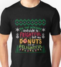 Funny Ugly Christmas Caroling Ugly Christmas Apparel  Unisex T-Shirt