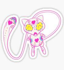 Mew Popmuerto | Pokemon & Day of The Dead Mashup Sticker