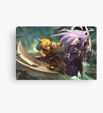 Final Fantasy Cloud Versus Sephiroth Canvas Print