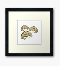 cartoon croissants Framed Print