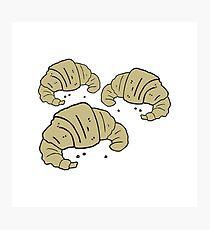 cartoon croissants Photographic Print