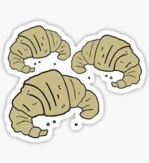 cartoon croissants Sticker