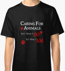 Caring For Animals Cute Cat Dog Pet Lover Design Classic T-Shirt