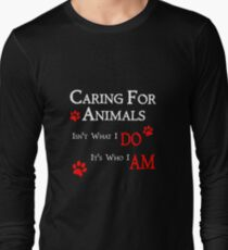 Caring For Animals Cute Cat Dog Pet Lover Design T-Shirt