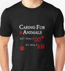 Caring For Animals Cute Cat Dog Pet Lover Design Unisex T-Shirt