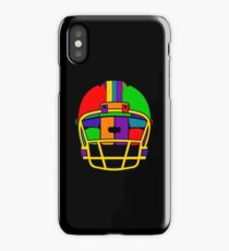 Football Helmet (Rainbow) iPhone Case