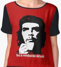 Viva la revolucion del cafe! Women's Chiffon Top