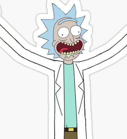 Rick flips off the world. Sticker